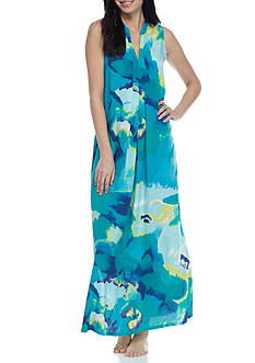 N Natori Bloom Mural Maxi Gown