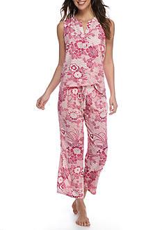 N Natori Floral Challis Sleeveless Pajama Set