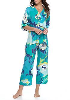 N Natori Blooming Mural Pajama Set