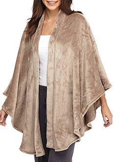 N Natori Solid Cashmere Fleece Poncho