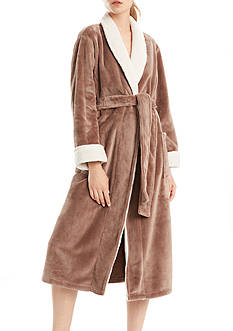 N Natori Solid Cashmere Fleece Robe