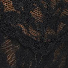 Women's Bikini Underwear: Black Hanky Panky Signature Lace V-kini - 482374