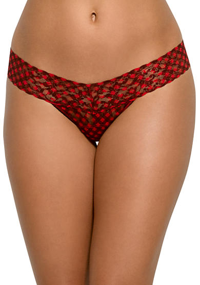 Hanky Panky® Checkered Lace Low Rise Thong