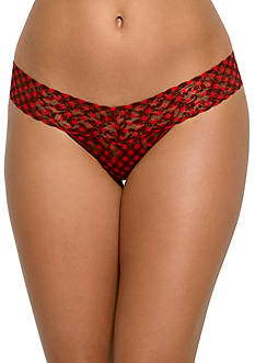 Hanky Panky Checkered Lace Low Rise Thong