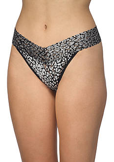 Hanky Panky Silver Cat Original Rise Thong - 7A1186