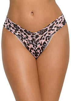 Hanky Panky Pink Leopard Thong - 9G1186
