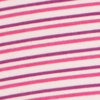 Women's Bikini Underwear: Berry Stripe DKNY Downtown Cotton Bikini - 543114