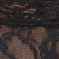 Women: Designer Sale: Black DKNY Signature Lace Boyshort - 545000