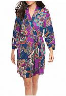New Directions® Eternity Paisley Wrap Robe