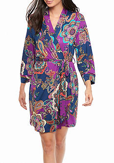 New Directions Eternity Paisley Wrap Robe