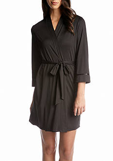 New Directions Intimates Silky Jersey Wrap Robe