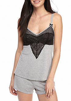 New Directions Lace Shortie Pajama Set