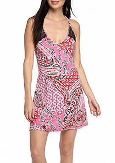 New Directions Bohemian Lace Back Chemise