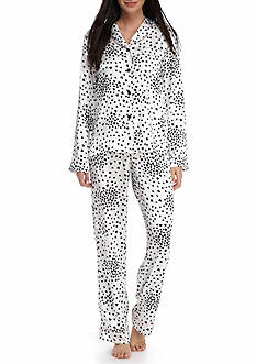New Directions Party Heart Satin Notch Pajama Set
