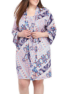 New Directions® Plus Size Printed Wrap