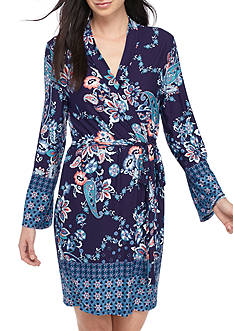 New Directions Printed Wrap Robe