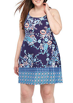 New Directions Plus Size Printed Marrakesh Chemise