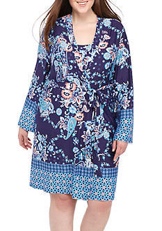 New Directions® Plus Size Printed Marrakesh Wrap
