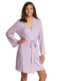New Directions Intimates Tyrol Geo Wrap Robe