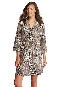 New Directions® Intimates Diagonal Animal Wrap Robe