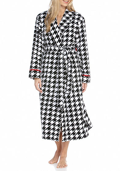 Kim Rogers® Houndstooth Wave Wrap Robe