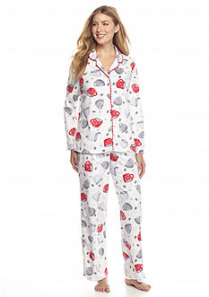 Karen Neuburger 2-Piece Coffee Microfleece Pajama Set