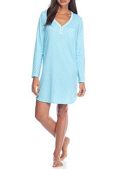 Karen Neuburger Long Sleeve Henley Nightshirt