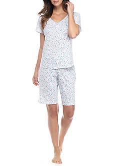 Karen Neuburger Short Sleeve Floral Bermuda Pajama Set