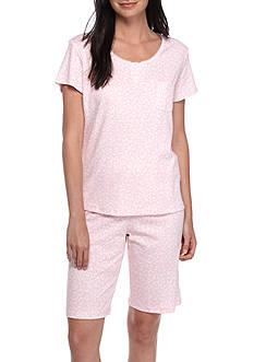 Karen Neuburger Short Sleeve Henley Bermuda Pajama Set