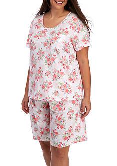 Karen Neuburger Plus Size Henley Bermuda Pajama Set