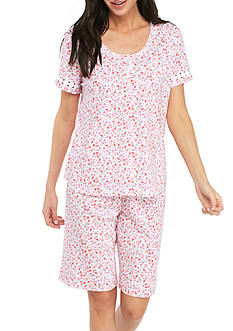 Karen Neuburger Short Sleeve Bermuda PJ Set