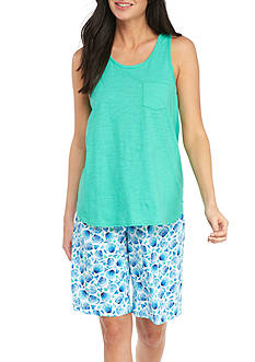 Karen Neuburger Tank and Bermuda Pajama Set