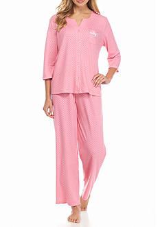 Karen Neuburger Petite Cardigan Capri Pajama Set