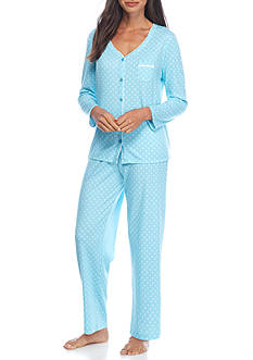 Karen Neuburger Long Sleeve Cardigan Pajama Set