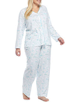 Karen Neuburger Plus Size Long Sleeve Cardigan Pajama Set