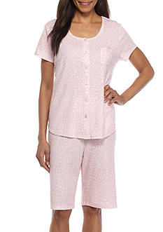 Karen Neuburger Short Sleeve Cardigan Capri Pajama Set