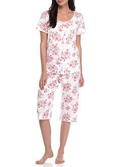 Karen Neuburger Petite Size Cardigan Capri Pajama Set