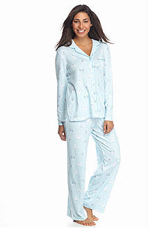 Karen Neuburger 2-Piece Button Front Knit Pajama Set