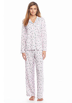 Karen Neuburger 2-Piece Pink Cat Button Front Pajama Set