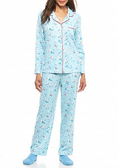 Karen Neuburger Knit Pajama Set with Socks