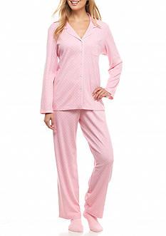 Karen Neuburger Knit Pajama Set with Socks