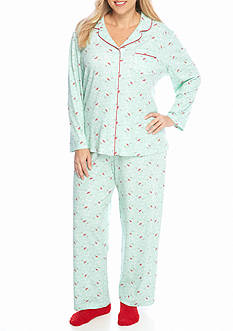 Karen Neuburger Plus Size Knit Pajama Set with Socks