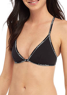 Calvin Klein Unlined Triangle Cotton Bralette- QF1752