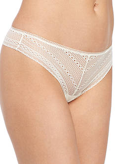 Calvin Klein Solid Lace Thong- QF1848