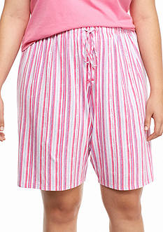 Jockey® Plus Size Stripe Bermuda Shorts