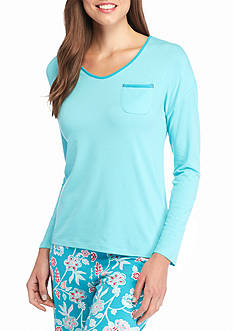 Jockey Long Sleeve Scoop Neck Tee with Pocket