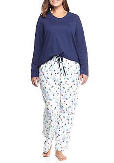 Jockey Plus Size Knit Jersey Pajama Set