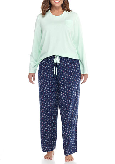 Jockey® Plus Size Knit Jersey Pajama Set