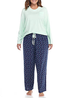 Jockey Plus Size Knit Jersey Pajama Set