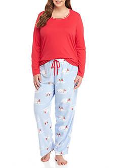 Jockey Plus Size Micro Knit Pajama Set